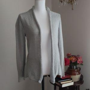 Banana Republic Gray Open Front Sweater